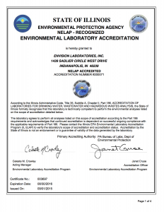 Secondary NELAC Certification